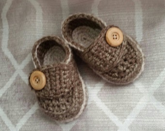 Crochet Button Loafers - Infant