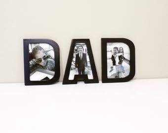 Fathers Day DAD Letter Frame 4 inch x 6 inch