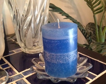 Aquamarine Pillar Candle