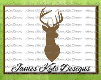 Deer Head SVG, Deer SVG, Southern SVG, Hunting Svg, Svg Files, Cricut, Silhouette Cut Files