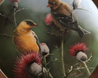 "Knowles Collector Plate ""The Goldfinch""."