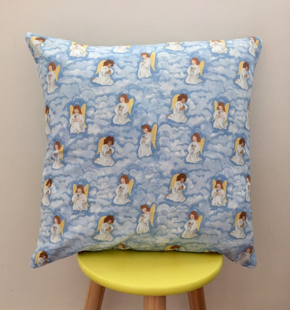 Angels praying cushion cover, perfect baby shower gift. Unisex