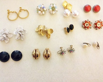 12 Pair Vintage Earring Collection
