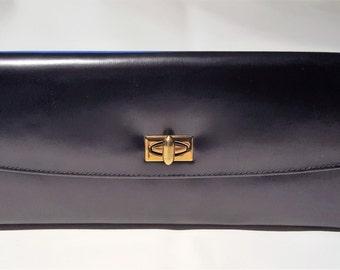 Rolfs Black Leather Vintage Purse