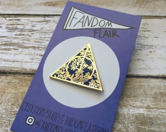 Hallows Pin, Floral Hallows, Ravenclaw Pin