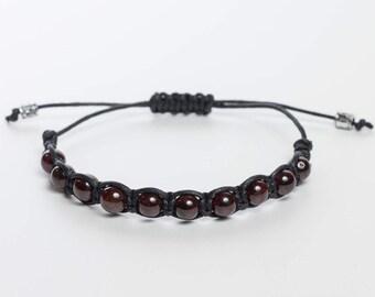 Garnet bracelet men, healing bracelet men. Natural stone bracelet. Regeneration crystal bracelet, Men's Gemstone Shamballa Beaded Bracelet