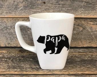 Papa bear porcelain coffee cup