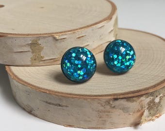Earrings - Blue Sparkle