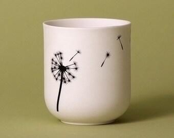 Dandelion Porcelain Candle Holder