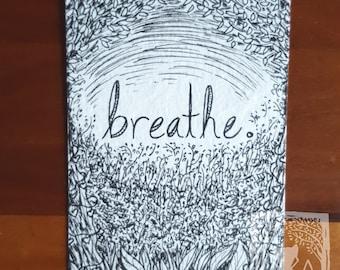 Breathe - Original Art, ATC