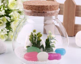 Best Design Cute Design Tea Coffee Sugar Glass Canisters Flower Plant Vase Popular New
