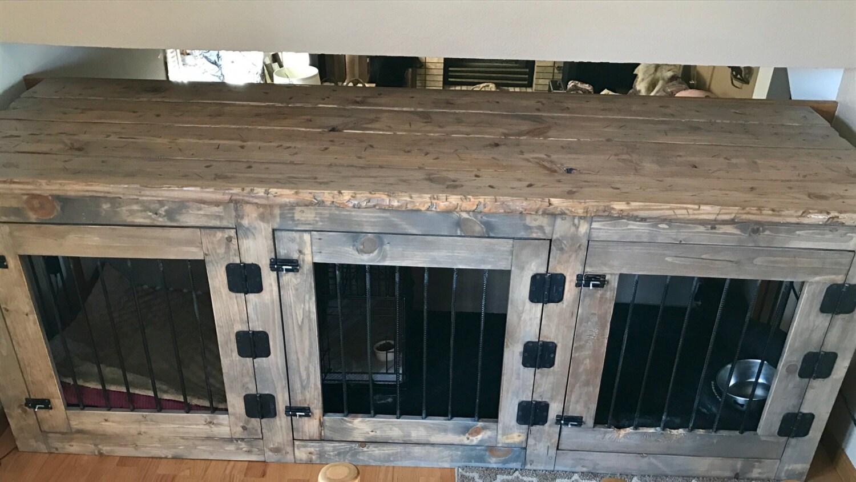 Custom Indoor Dog Kennels - Vanity 301