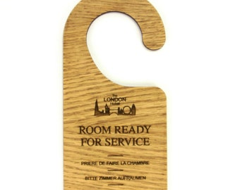 Wooden Do Not Disturb Door Hooks. Hotel, B&B, Guest House. Gift. Customised.  - DNDWOOD2