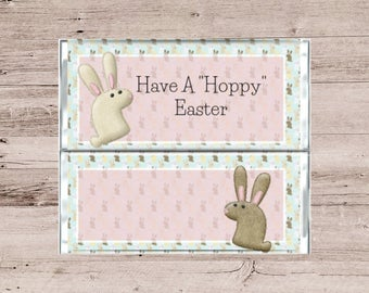 Have A Hoppy Easter Chocolate Wrapper-Happy Easter Candy Bar Wrapper-Hoppy Easter Candy Bar Wrapper-Easter Candy Wrapper-Chocolate Wrapper
