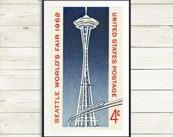seattle space needle art, space needle wall art, seattle world's fair posters, space art, space needle seattle, world's fair seattle posters
