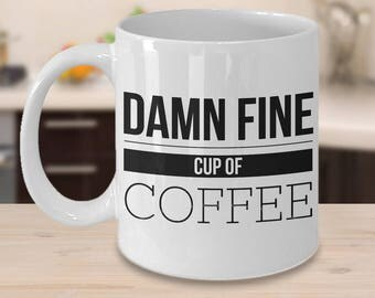 A Damn Fine Cup of Coffee Mug - Damn Fine Coffee Cup - Funny Coffee Mugs - Gifts for Dad - Dad Mug