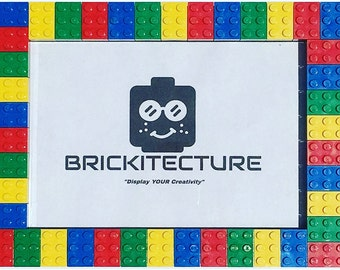 Picture Frame - Red/Yellow/Green/Blue - Authentic 2x3 LEGO Bricks Attached