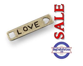 """99cent Shipping~Charms, *SALE*, """"Love"""", Bronze, 6 pcs  +49cent ea addt'l item & DISCOUNTS*"""