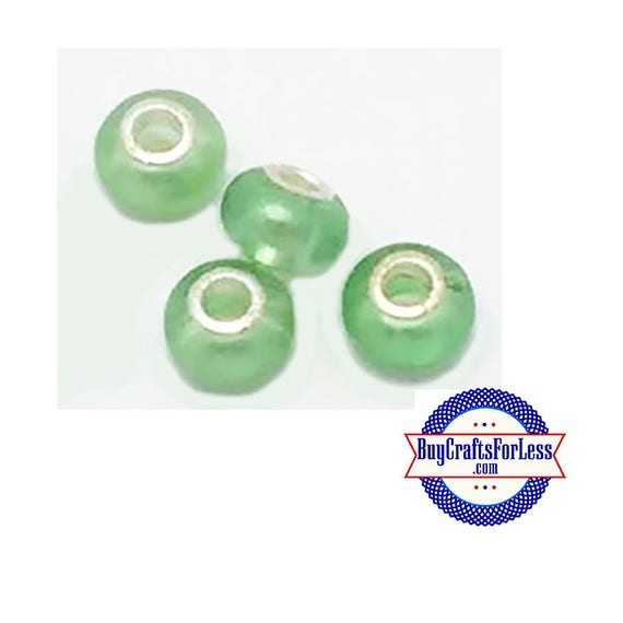 Acrylic Beads, GREEN PEARL, Pretty color, 8 pcs  +Discounts & FREE Shipping*
