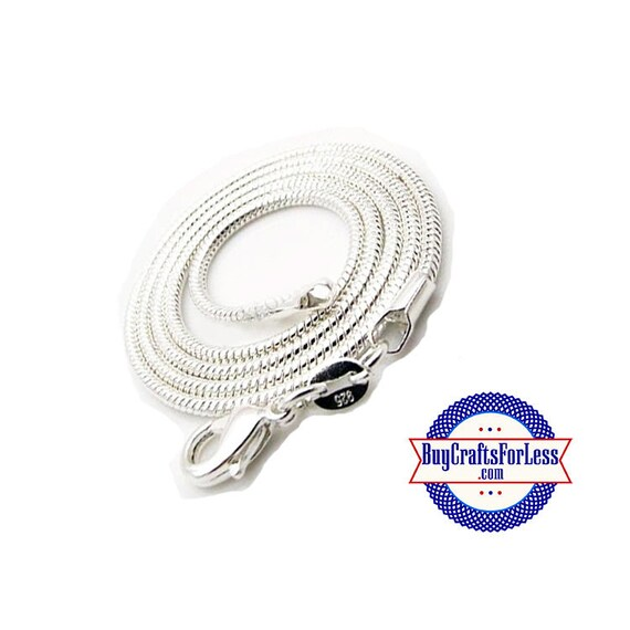 Snake CHAIN, Silver Plated, 4 lengths! Our favorite!