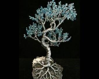 Wire Tree Handmade Beaded Bonsai Sculptures - Mungkorn style