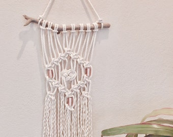 Macramé Wall Hanging with Copper Accents