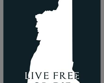 NH Live Free or Die Decal