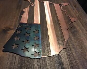 United States Flag sign