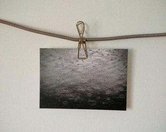 Moody Black And White Rain Photography Postcard Photo Print Water Nature