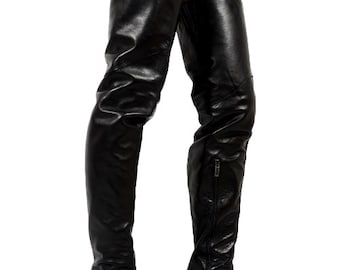 """RED 205 - Extreme OVERKNEE BOOTS 120mm/4.7""""High heel - Made in Italy - Top Quality"""