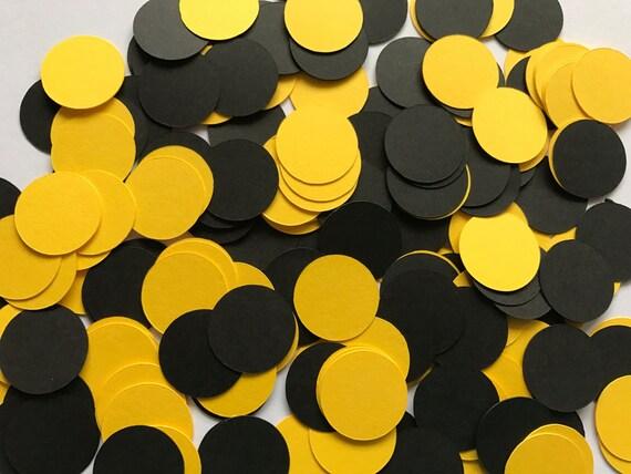 Black And Yellow Dot Confetti