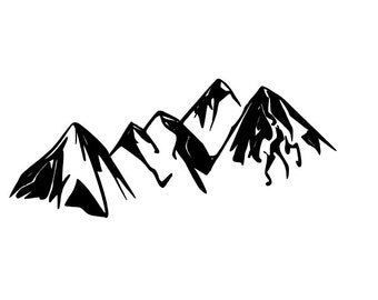 Mountains Decal 2.5 x 6