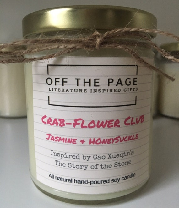 Crab Flower Club Soy candle: Inspired by The Story of the Stone
