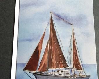 Chesapeake Bay Skipjack watercolor