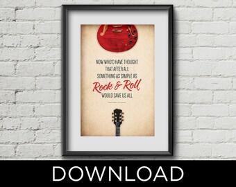 "Instant digital download - FRANK TURNER ""I Still Believe"" Rock & Roll lyrics printable poster - 11x17"