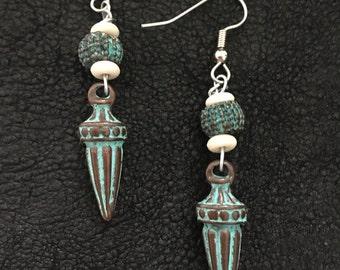 Maya Style Turqouise Earrings