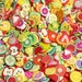 Mix assorted 200pcs Fimo clay slice fruit slice Miniature Polymer Clay or Fimo Cabochons for nail art DIY phone case deocoden