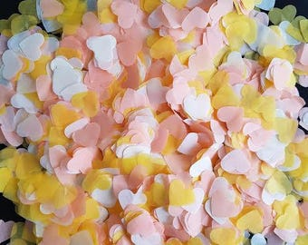 Tissue paper Wedding-Birthday-Baby shower Throwing & table decor and many more Peach / Ivory / Yellow
