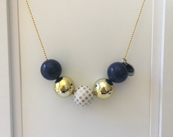 Navy and Gold necklace