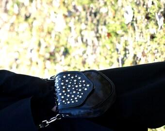 rocker rebelias bag, handmade, unique, made of Italian leather