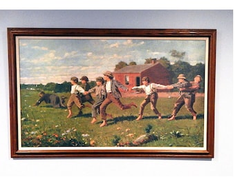 Snap The Whip By Winslow Homer - The Metropolitan Museum Of Art 1996 - 2/2000 - Professionally Framed and Mounted - Vintage Lithograph