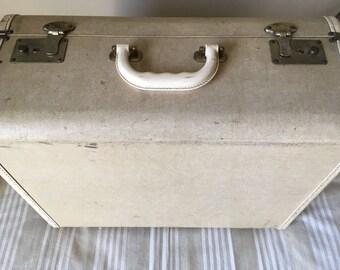 Vintage Suitcase Sewing Machine case for stacking vintage display