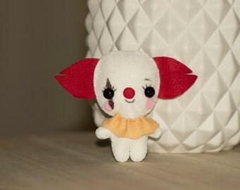 Clown mini plush felt amigurumi
