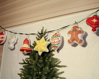 christmas tree/100% oxford cotton/ fir tree fabric/ ornament fabric/ christmas deco/ christmas fabric