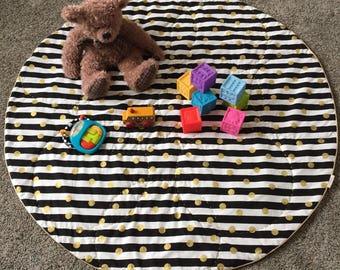 Baby Play Mat; Round Baby Play Mat; Play Mat; Nursery Rug; Photo Prop