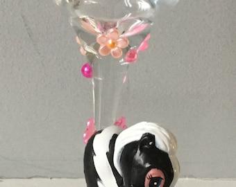 Disney Flower from Bambi Wine Glass, wine glass, gem wine glass