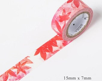 Maple Leaf Japanese Washi Tape-Season's Color,Masking Tape,Sticker,Planner Sticker,Stationery, journal,Decorative Sticker