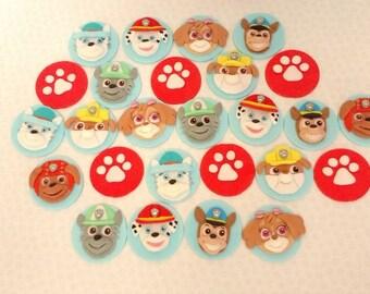 Paw patrol edible cupcake toppers