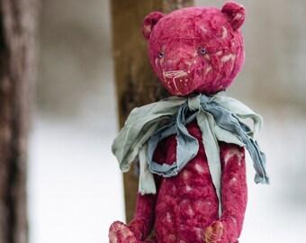 Artist Teddy Bear  Plush OOAK old buddy  antique teddy bear vintage toy