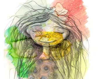 Print clouds, colors, children, cute, childreillustration, multicolored, cloudy